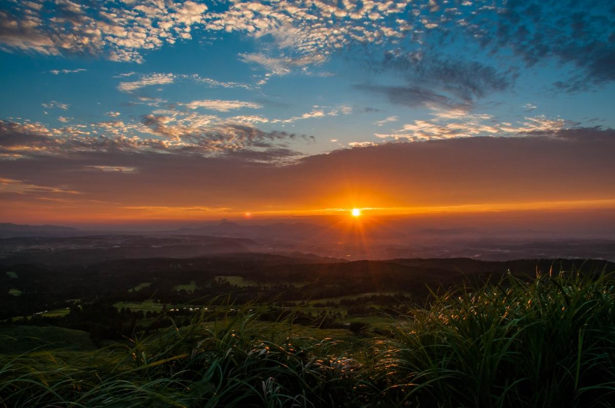 原野の太陽